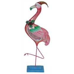 Brighten the Season Palmingo Posh Christmas Flamingo Decor