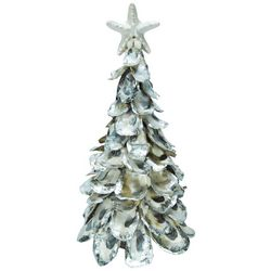 Brighten the Season Sandy Shore Oyster Shell Tree