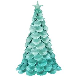 Brighten the Season Sandy Shore Ombre Scallop Shell Tree