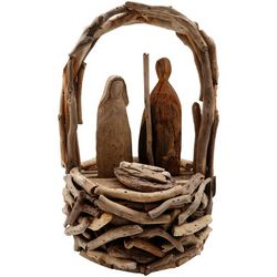 Brighten the Season Sandy Shore Holy Family Driftwood