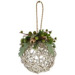 Brighten the Season Fairytale Lighted Floral Ball Ornament