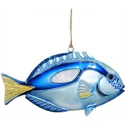 Brighten the Season Brights Blue Tin Fish Ornament