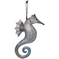 Brighten the Season Sandy Shore Capiz Seahorse Ornament