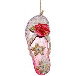 Brighten the Season Palmingo Posh Pink Flip Flop Ornament
