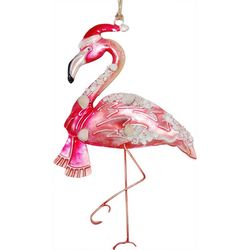 Brighten the Season Palmingo Posh Tin Flamingo Ornament
