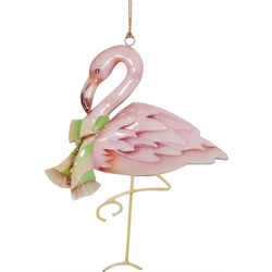Brighten the Season Palmingo Posh Flamingo Scarf Ornament