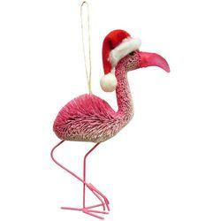 Brighten the Season Palmingo Posh Flamingo With Hat Ornament