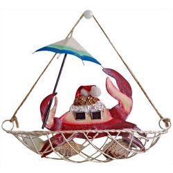 Brighten the Season Coastal Crab Boat Ornament