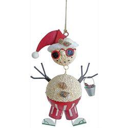 Brighten the Season Coastal Sand Snowman Ornament