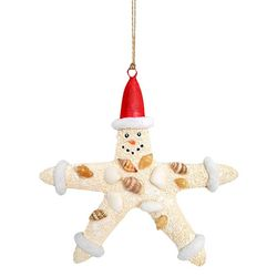 Brighten the Season Florida Bealls Starfish Snowman Ornament