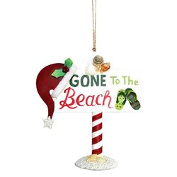 Brighten the Season Florida Gone To The Beach Ornament
