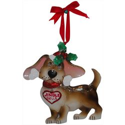 Brighten the Season Hound Dog Ornament