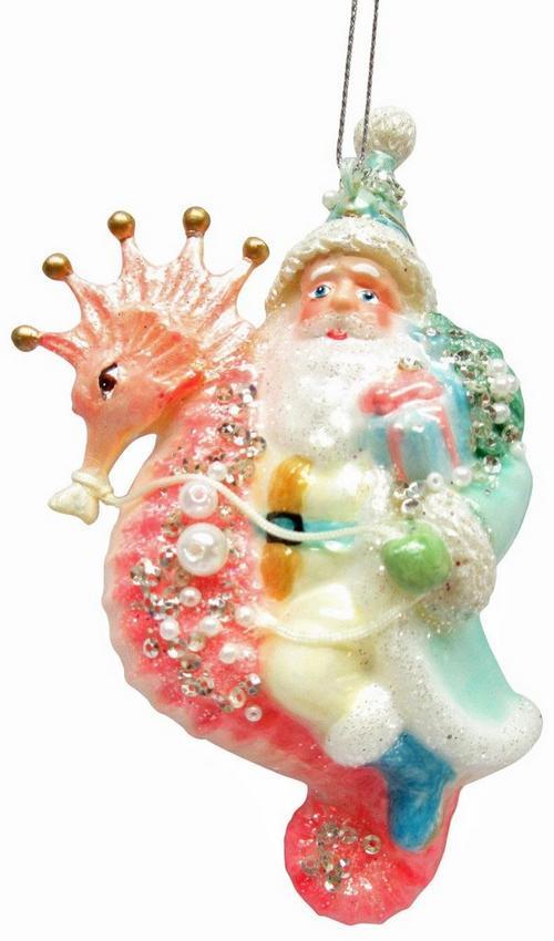 Brighten The Season Santa Claus Seahorse Ornament Bealls Florida