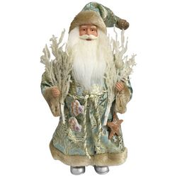 Brighten the Season Sandy Shore 16' Coastal Santa Figurine