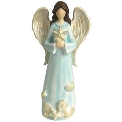 Brighten the Season Sandy Shore Angel With Starfish Figurine
