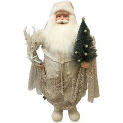 Brighten the Season Sandy Shore 36'' Coastal Santa Figurine