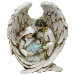 Brighten the Season Sandy Shore Holy Family Wings Figurine