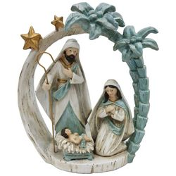 Brighten the Season Sandy Shore Holy Family Palm Tree Decor