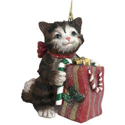 Brighten the Season Pets Cat With a Gift Bag Ornament
