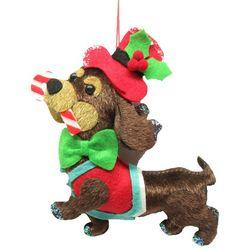Brighten the Season Pets Fabric Dachshund Ornament