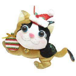 Brighten the Season Pets Fabric Running Cat Ornament
