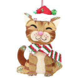 Brighten the Season Pets Cat With Santa Hat