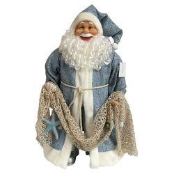 Brighten the Season Sandy Shore 24'' Coastal Santa Figurine