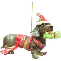 Brighten the Season Pets Dachshund with a Hat Ornament