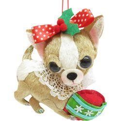 Brighten the Season Pets Fabric Chihuahua Ornament