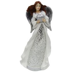 Brighten the Season Sandy Shore Mosaic Angel Figurine