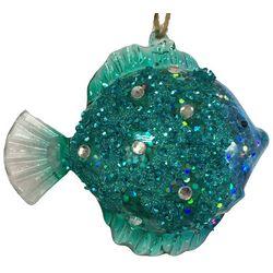 Brighten the Season Brights Blue Glitter Fish Ornament