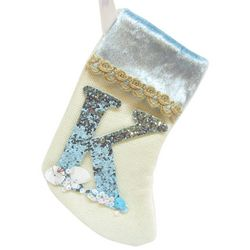 Brighten the Season Initial K Stocking Ornament