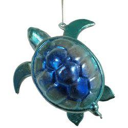 Brighten the Season Brights Metallic Blue Turtle Ornament