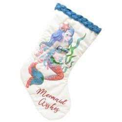 Brighten the Season Fairytale Velvet Mermaid Stocking