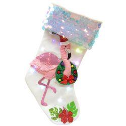 Brighten the Season Palmingo Posh Lighted Flamingo Stocking