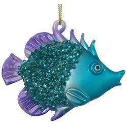 Brighten the Season Brights Blue & Purple Fish Ornament