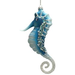 Brighten the Season Brights Blue Seahorse Ornament