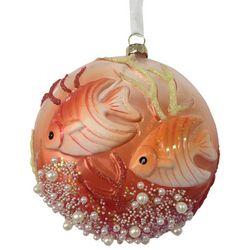 Brighten the Season Brights Coral Double Fish Ornament