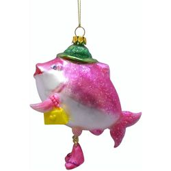 Brighten the Season Brights Glass Fish With Purse