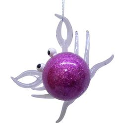 Brighten the Season Brights Glass Purple Crab Ornament