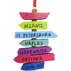 Brighten the Season Brights City Names Word Sign Ornament
