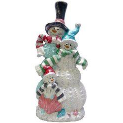Brighten the Season Fairytale Snowman Family Figurine