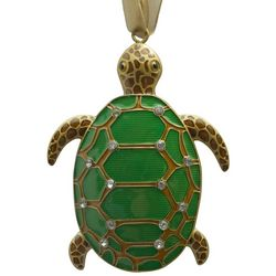 Brighten the Season Florida Bealls Green Turtle Ornament