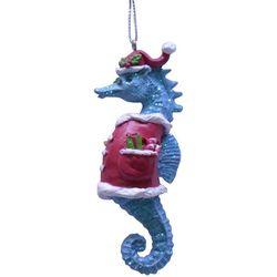 Brighten the Season Brights Seahorse With Santa Hat Ornament