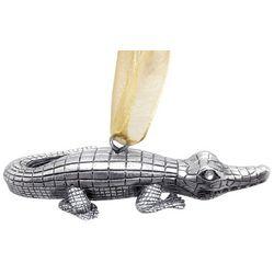 Brighten the Season Florida Bealls Silver Gator Ornament