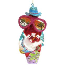 Brighten the Season Brights Surfboard With Drum Ornament