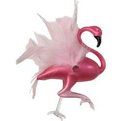 Brighten the Season Flamingo w/Fleathers Ornament