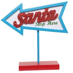 Brighten the Season Florida Bealls Santa Stop Arrow Sign