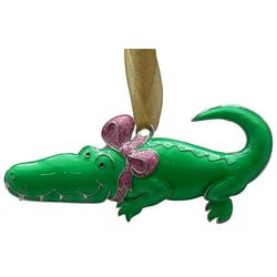 Brighten the Season Palmingo Posh Alligator Ornament