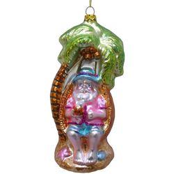 Brighten the Season Palmingo Posh Santa in Tree Ornament
